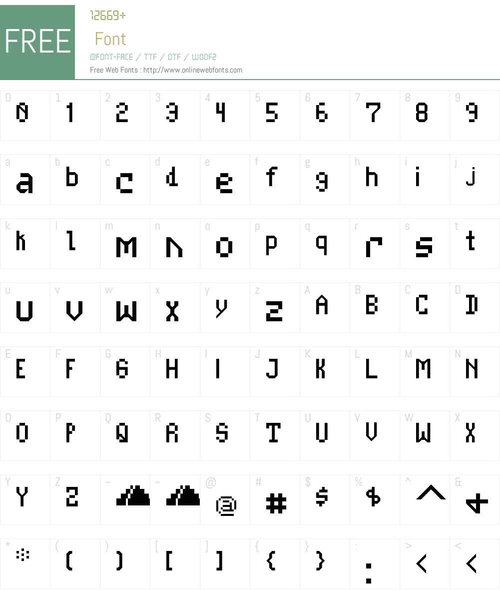 Casale NBP Font Screenshots