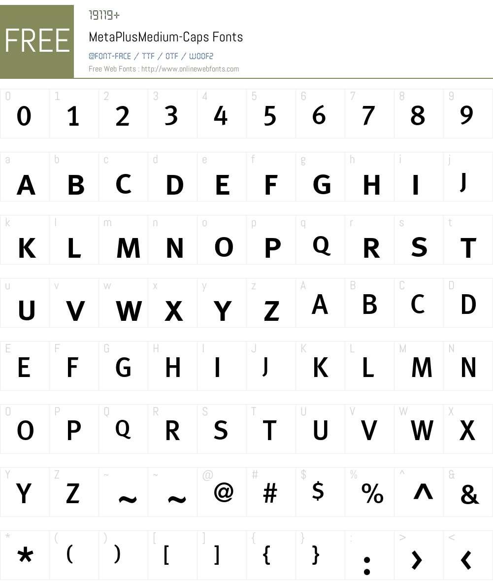 MetaPlusMedium- Font Screenshots