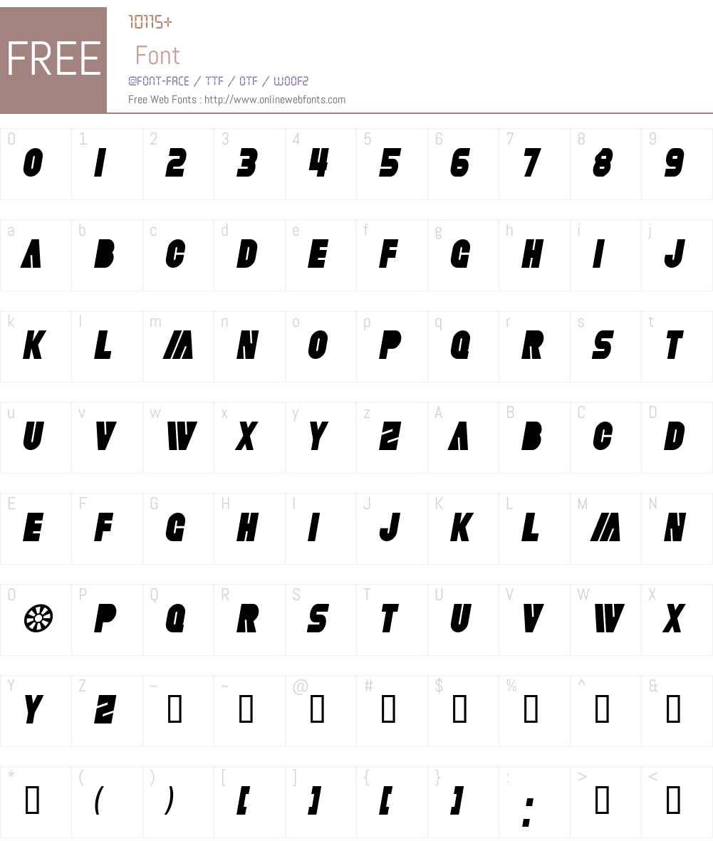SF Fortune Wheel Condensed Font Screenshots