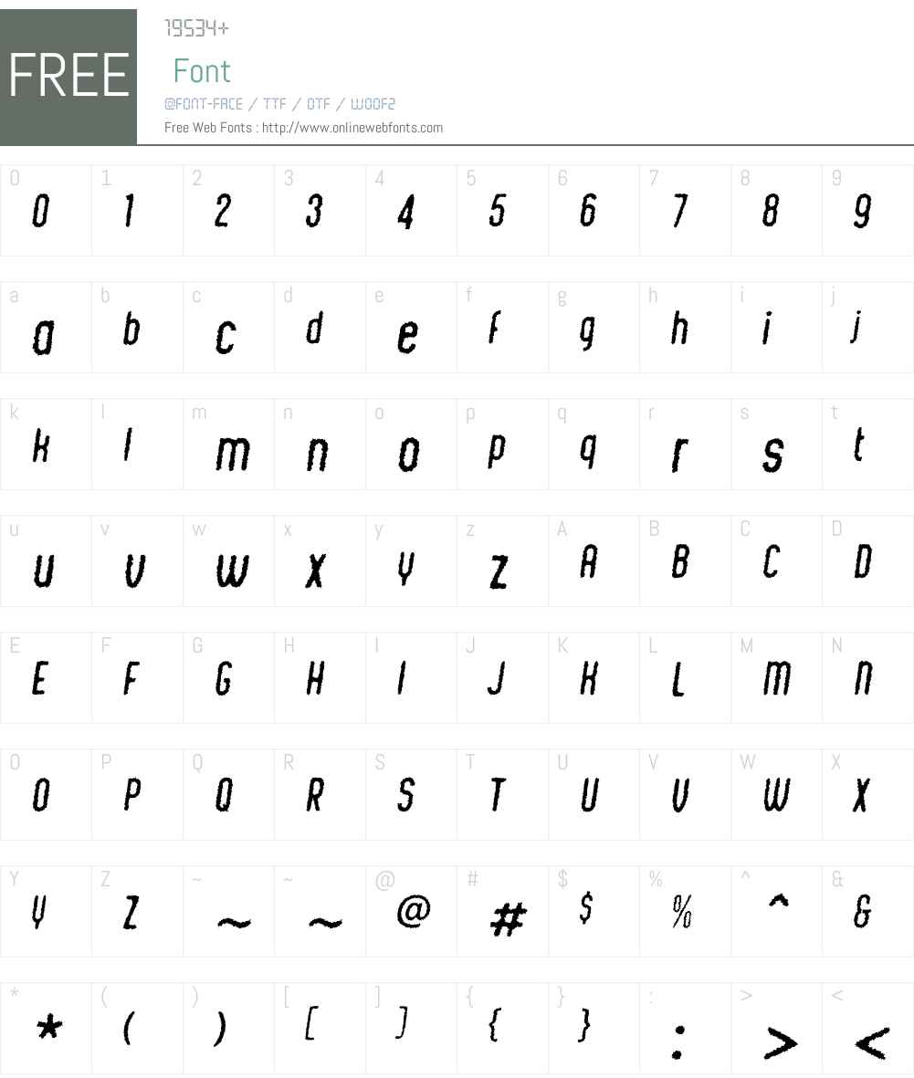 ChicChalkW00-Italic Font Screenshots