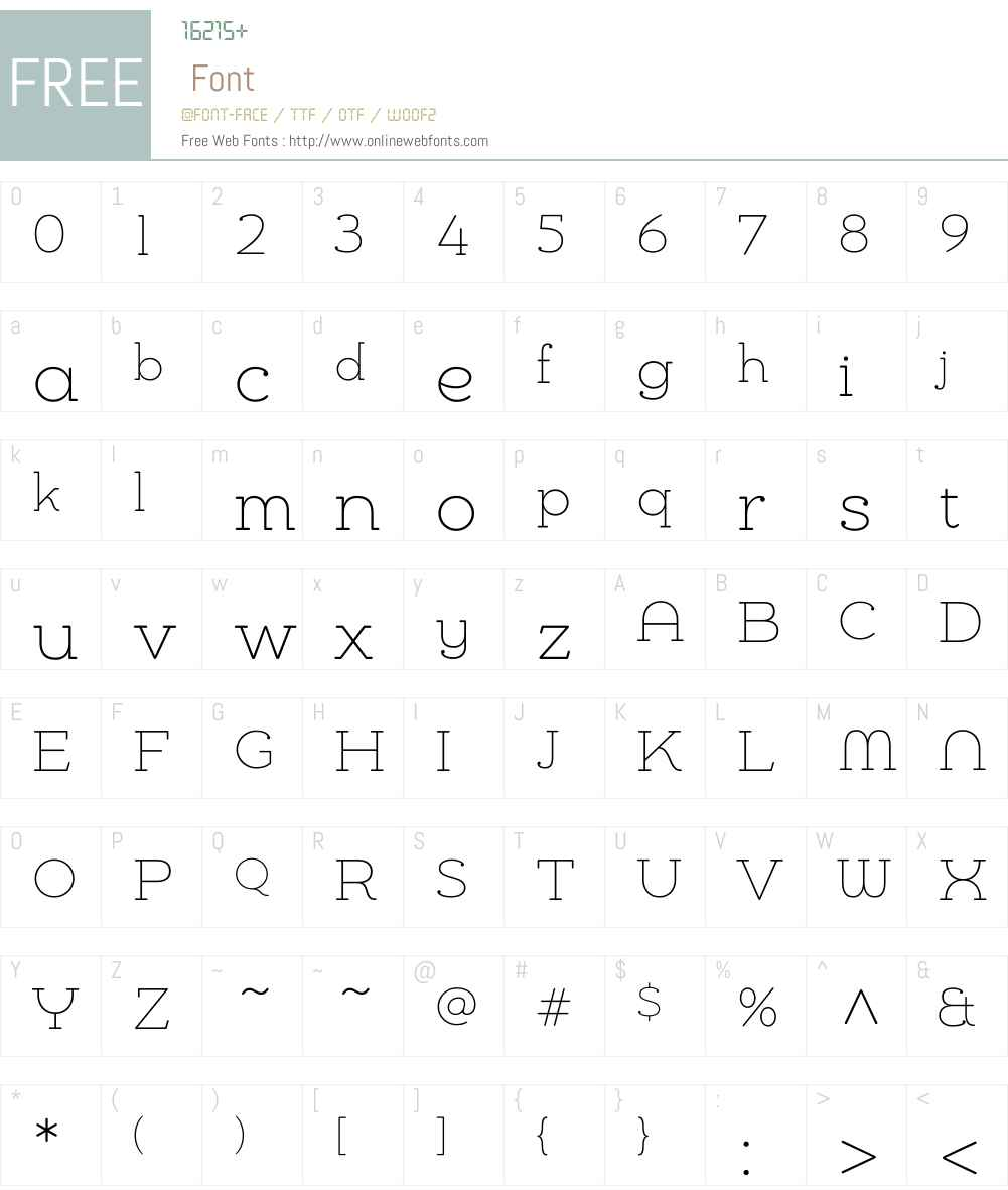 Chennai Slab Thin Font Screenshots