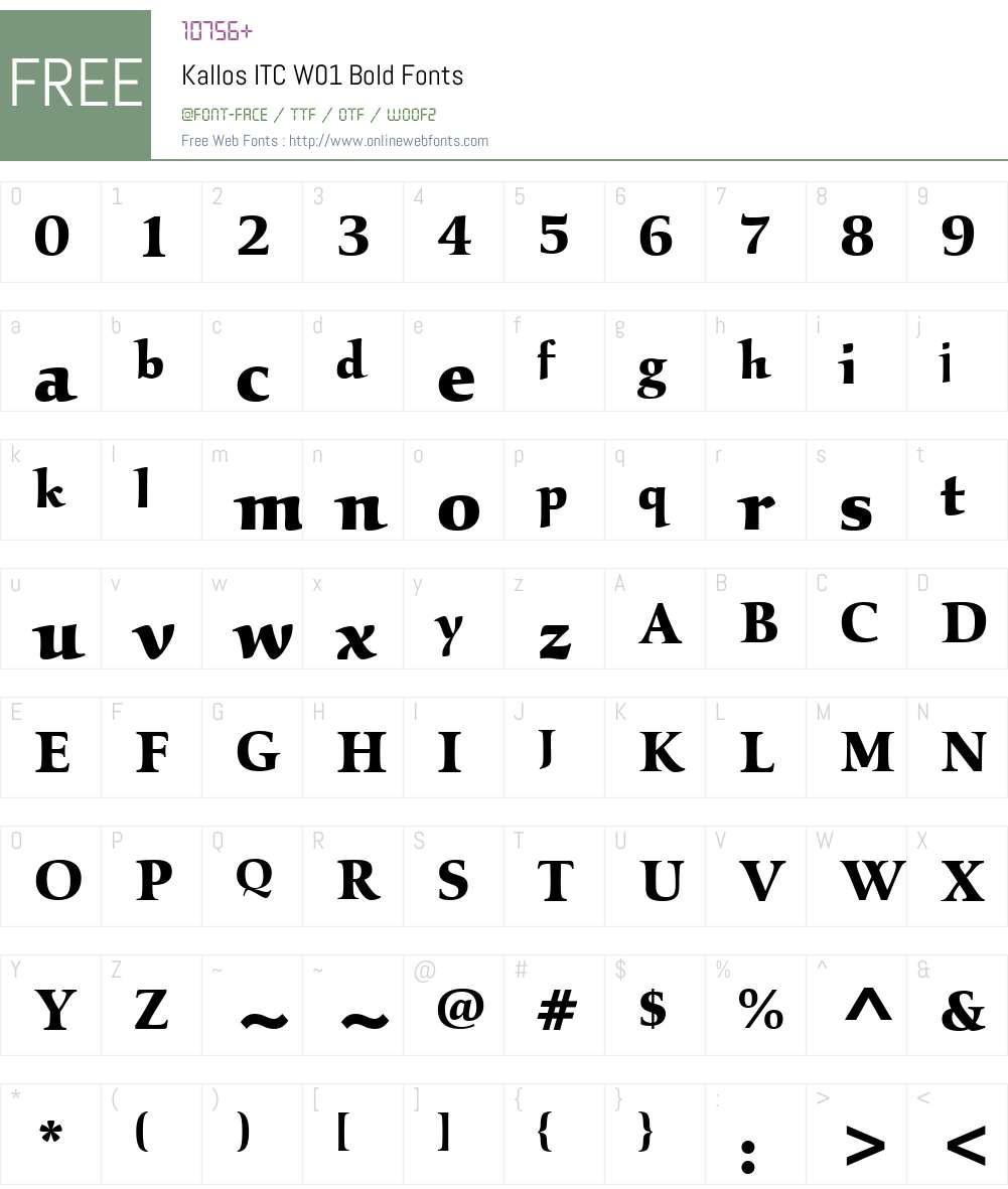 KallosITCW01-Bold Font Screenshots