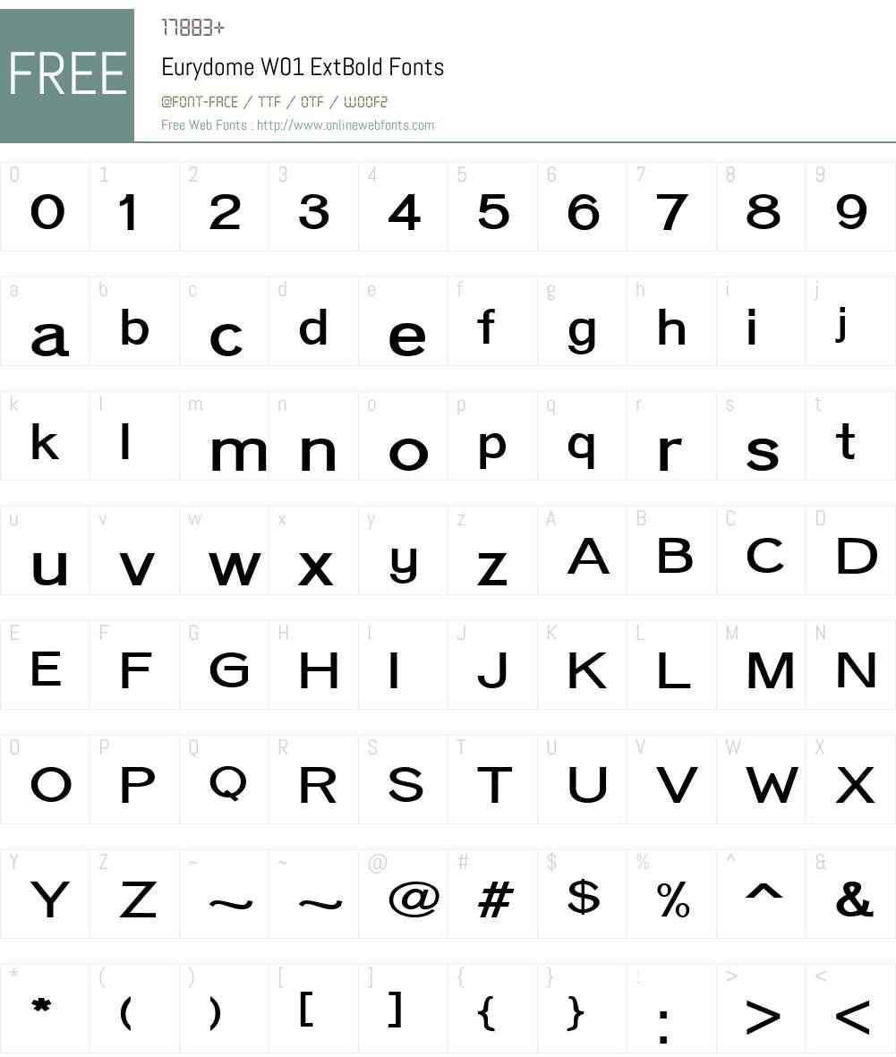 EurydomeW01-ExtBold Font Screenshots