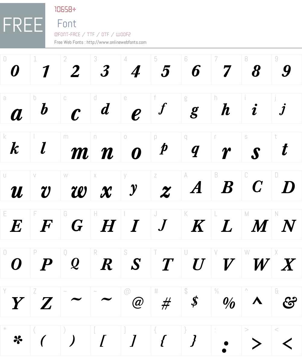 BaskervilleTMed Font Screenshots
