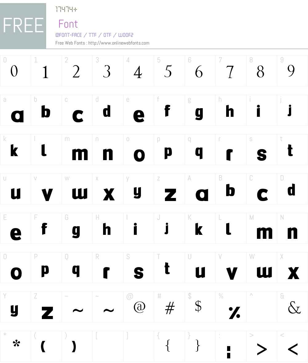 FlexiBendi Font Screenshots