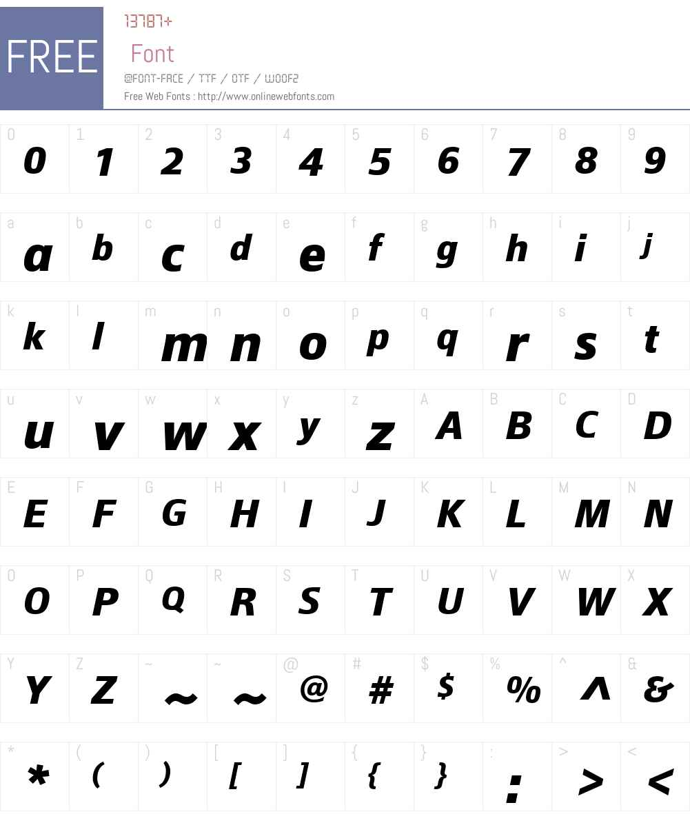 EpocaW01-BoldItalic Font Screenshots