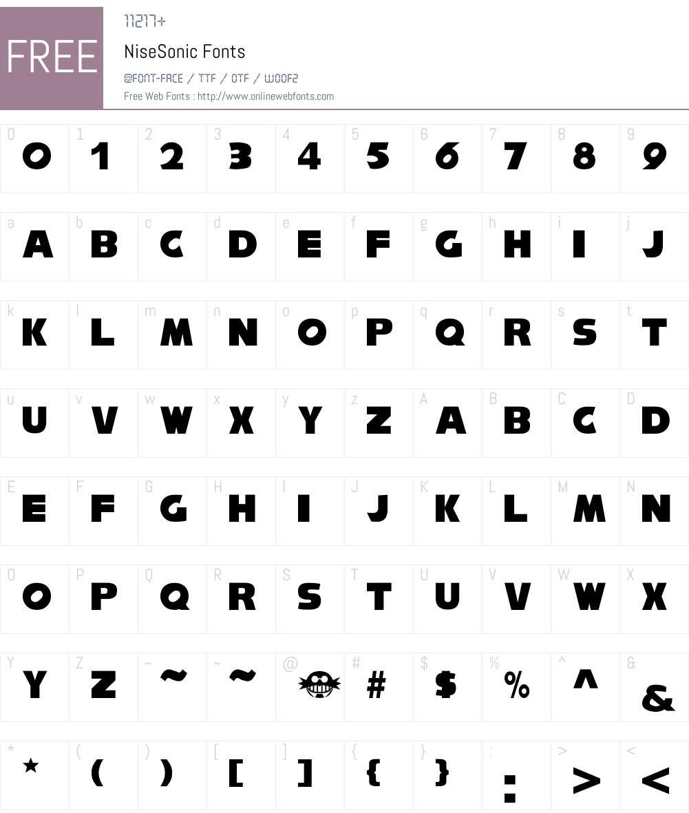 NiseSonic Font Screenshots