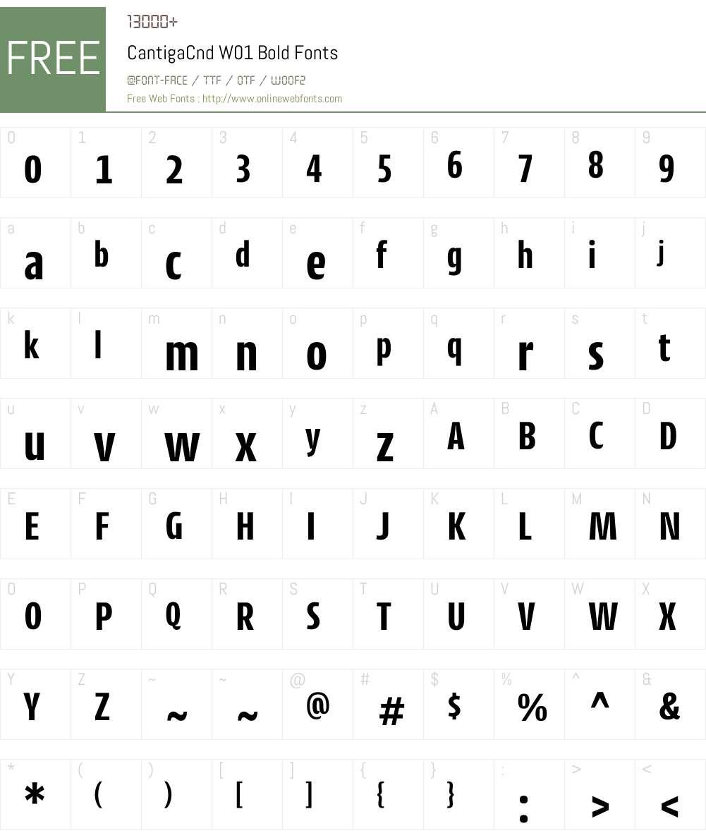 CantigaCndW01-Bold Font Screenshots