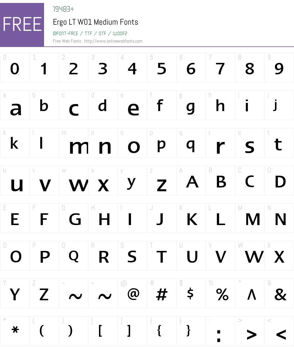 ErgoLTW01-Medium Font Screenshots