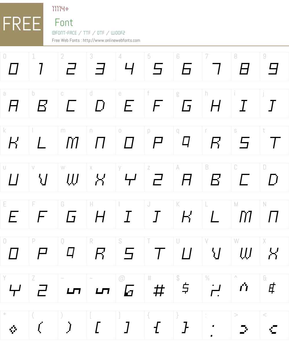 Samson Font Screenshots