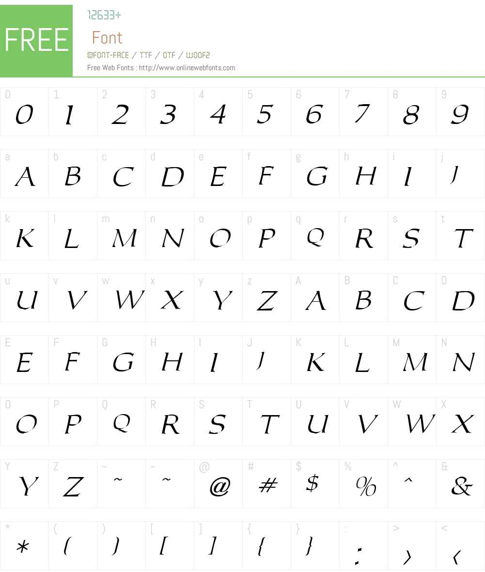 Carolus Font Screenshots