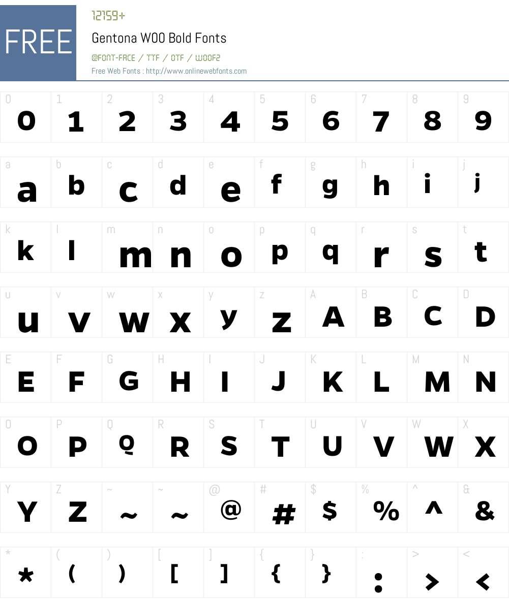 GentonaW00-Bold Font Screenshots