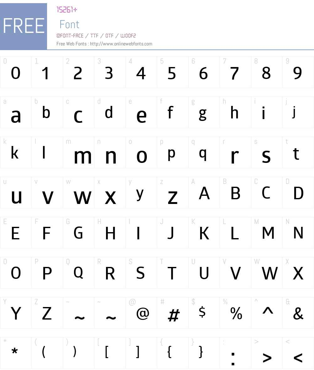 GloberW01-SemiBold Font Screenshots