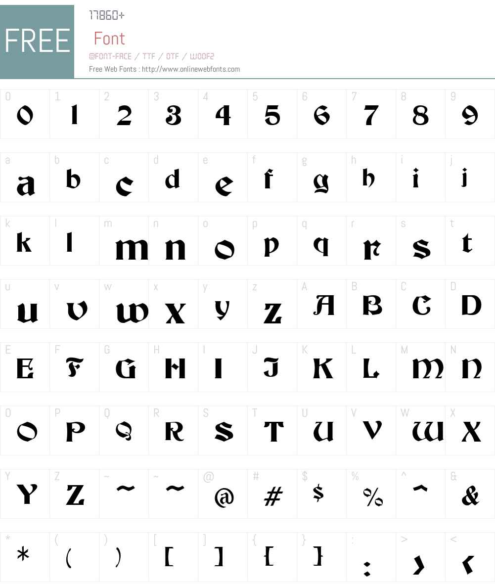 Becker Font Screenshots
