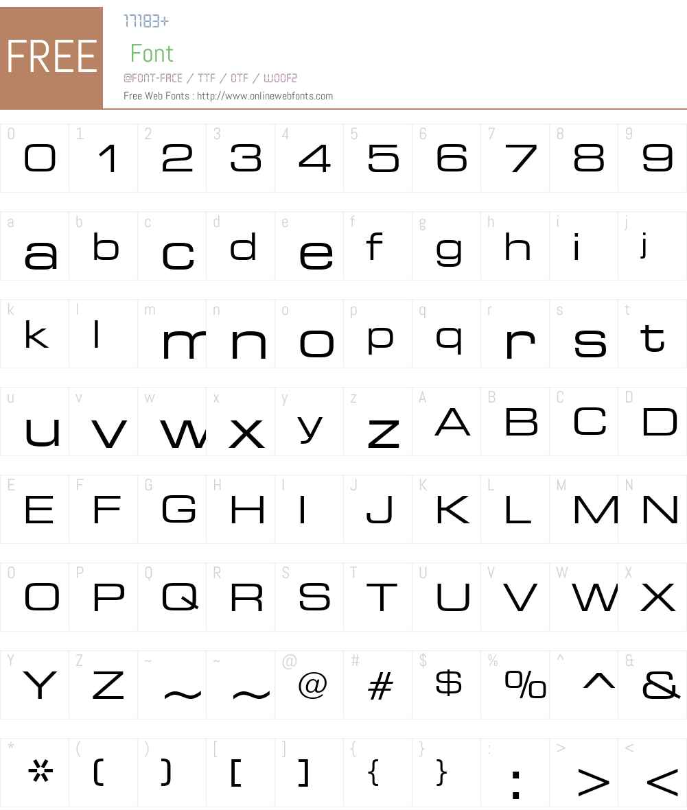 Square721 Ex BT Font Screenshots