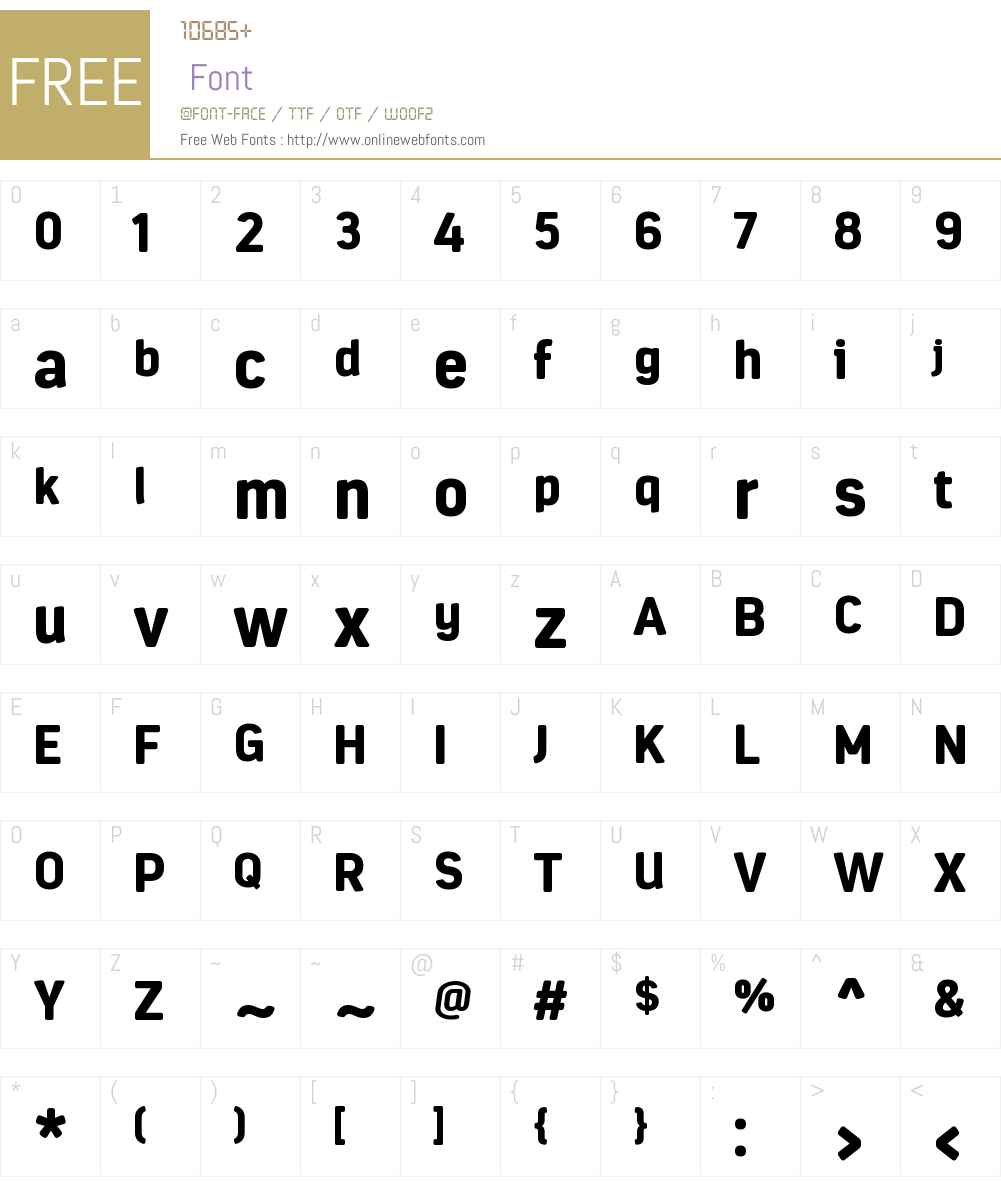 EstandarRoundedW00-Black Font Screenshots
