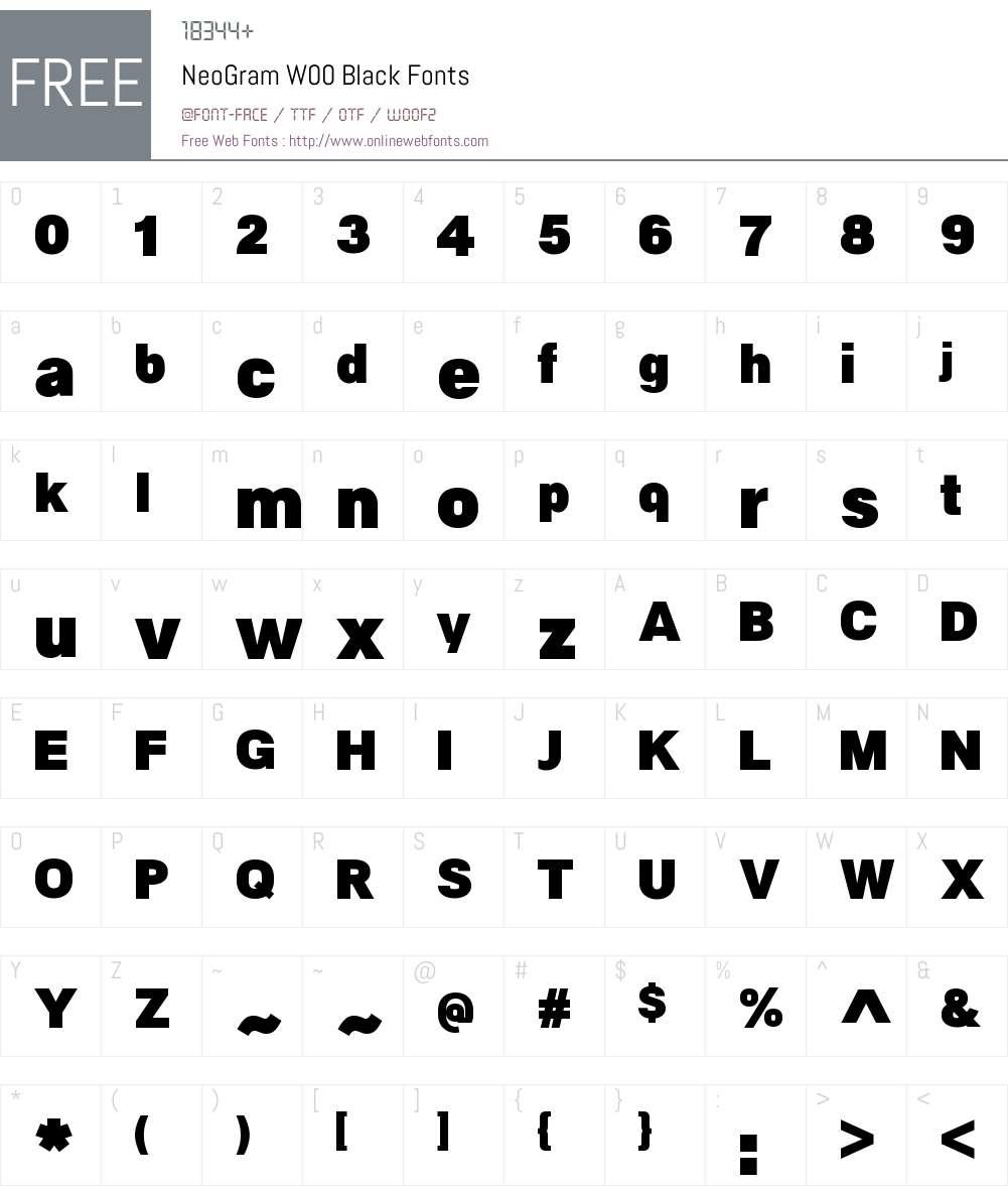 NeoGramW00-Black Font Screenshots