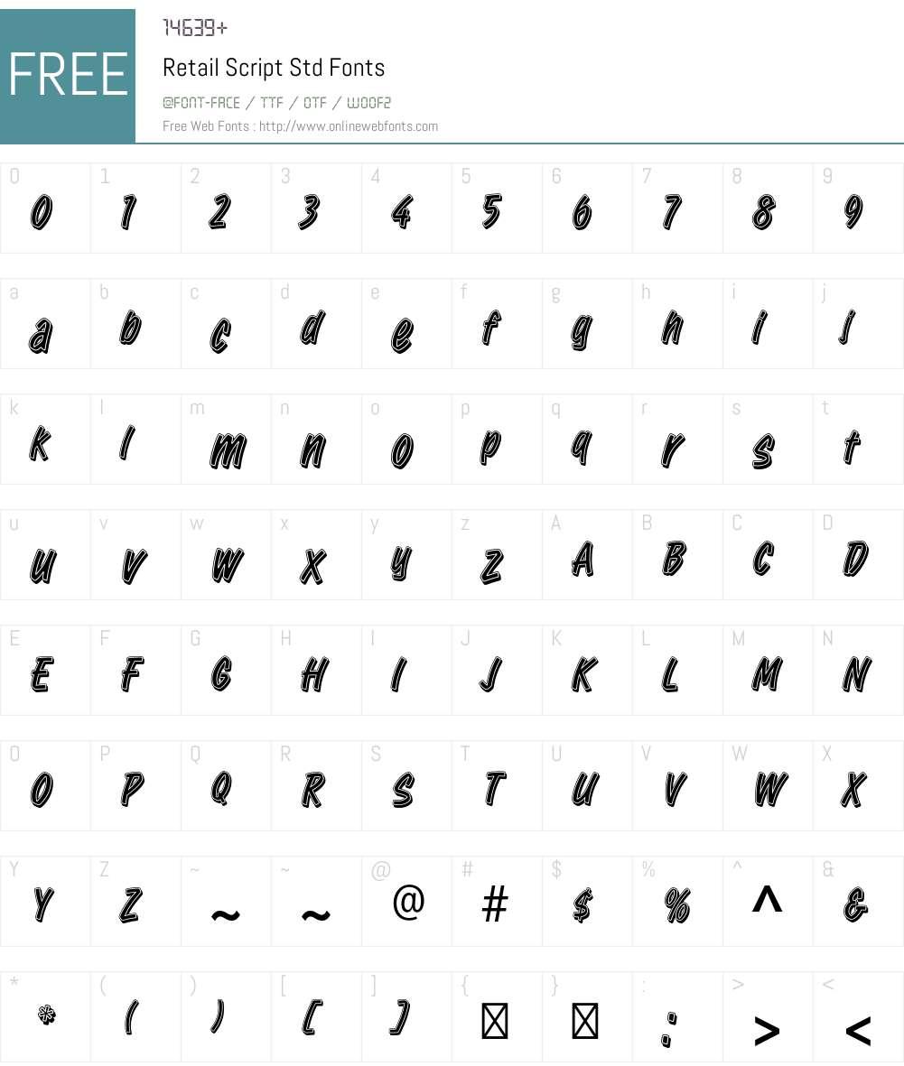 Retail Script Std Font Screenshots