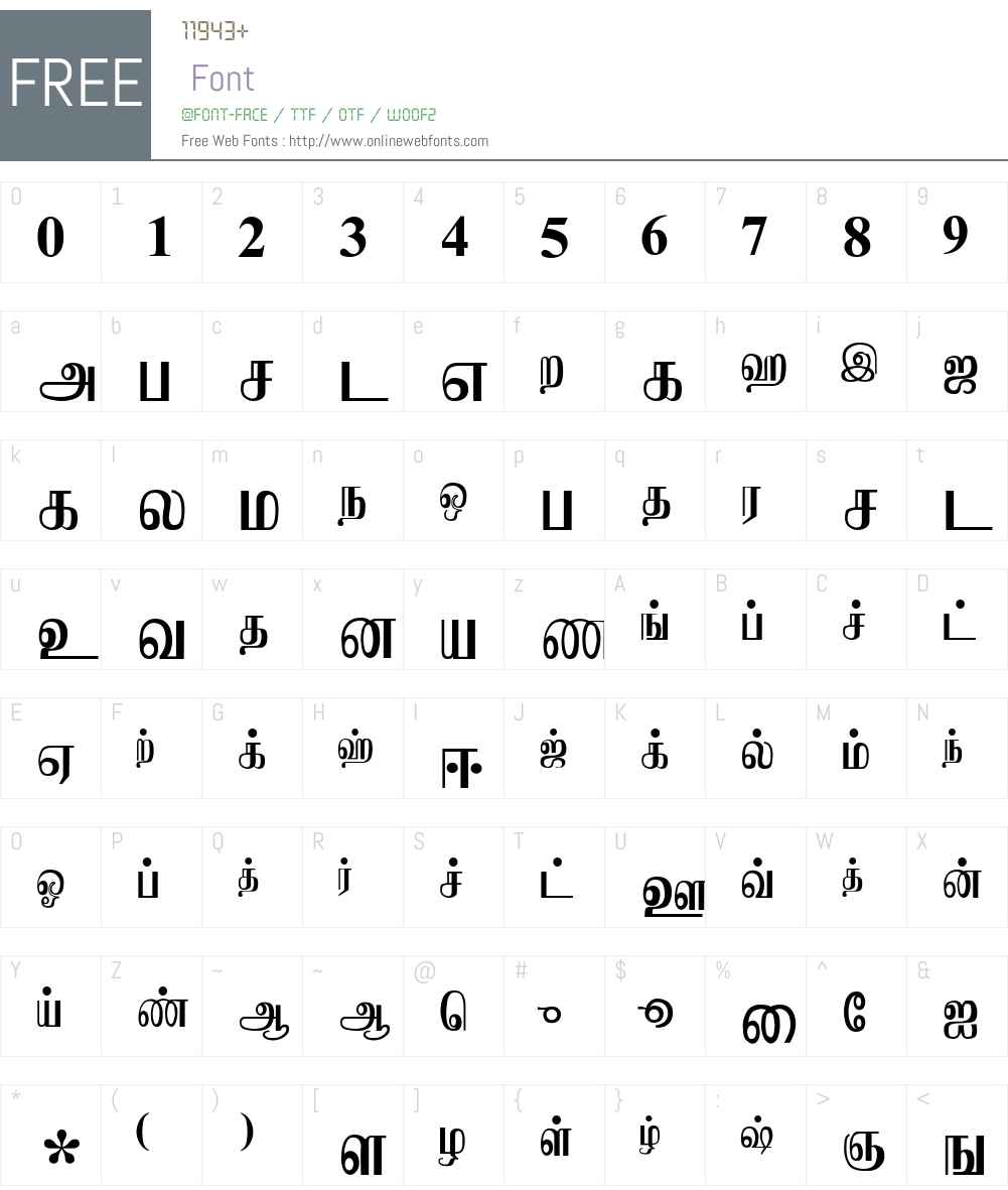 Jaffna Font Screenshots