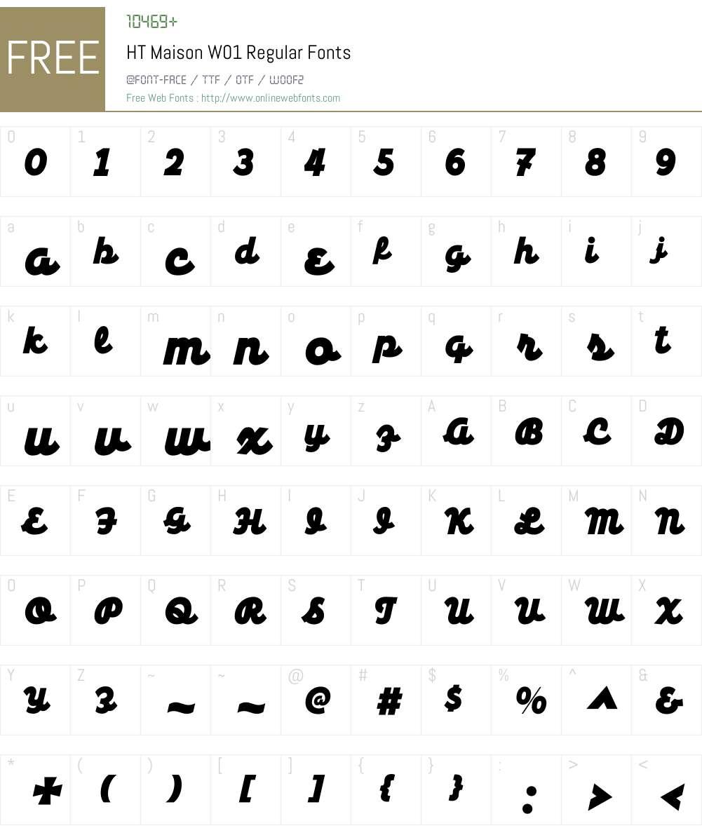 HTMaisonW01-Regular Font Screenshots