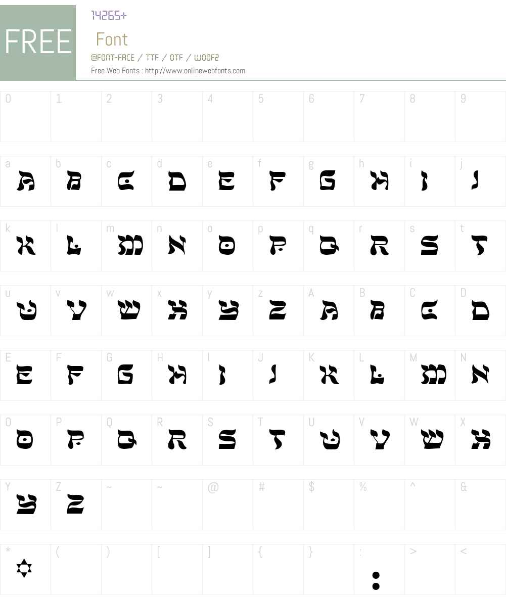 Peace Font Screenshots