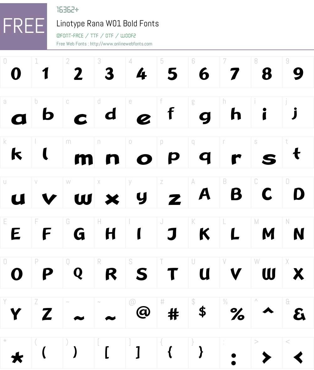LinotypeRanaW01-Bold Font Screenshots