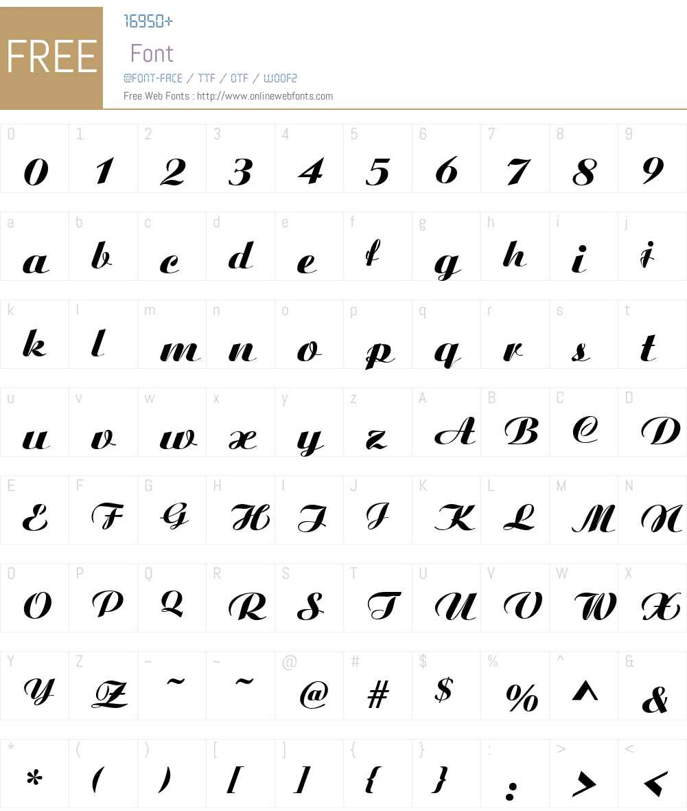 Aristocrat Font Screenshots