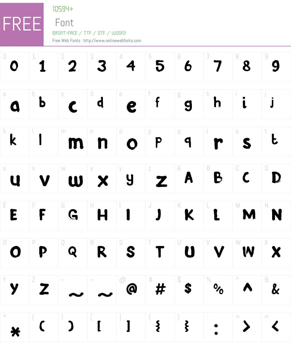 InkyFingersW00-Regular Font Screenshots
