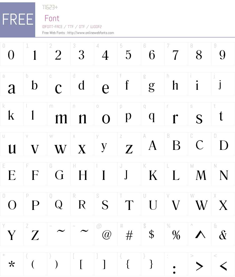 RomanaT Font Screenshots