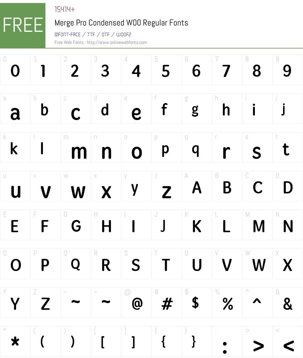 Merge Pro Font Screenshots