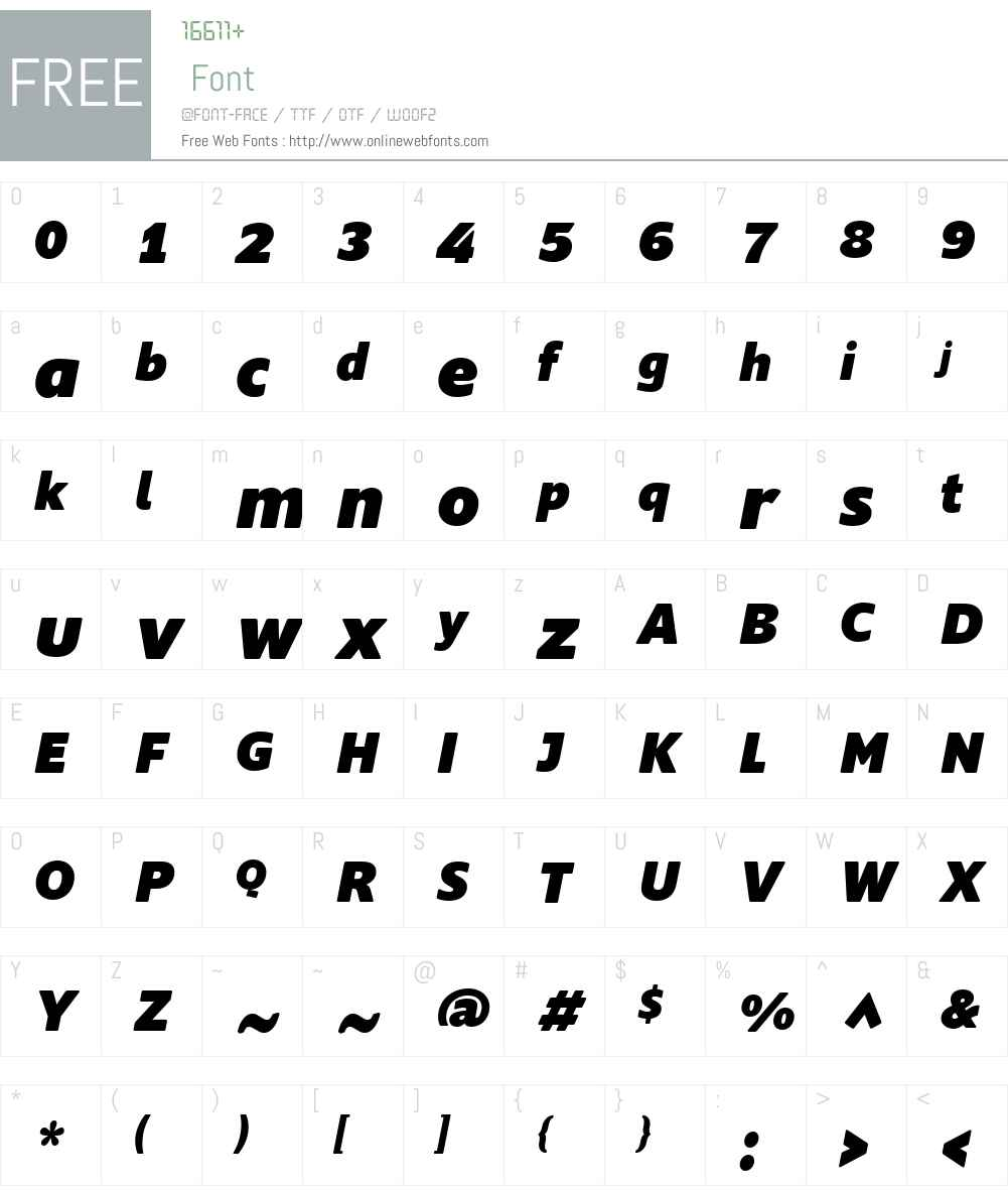 Supra Rounded Font Screenshots