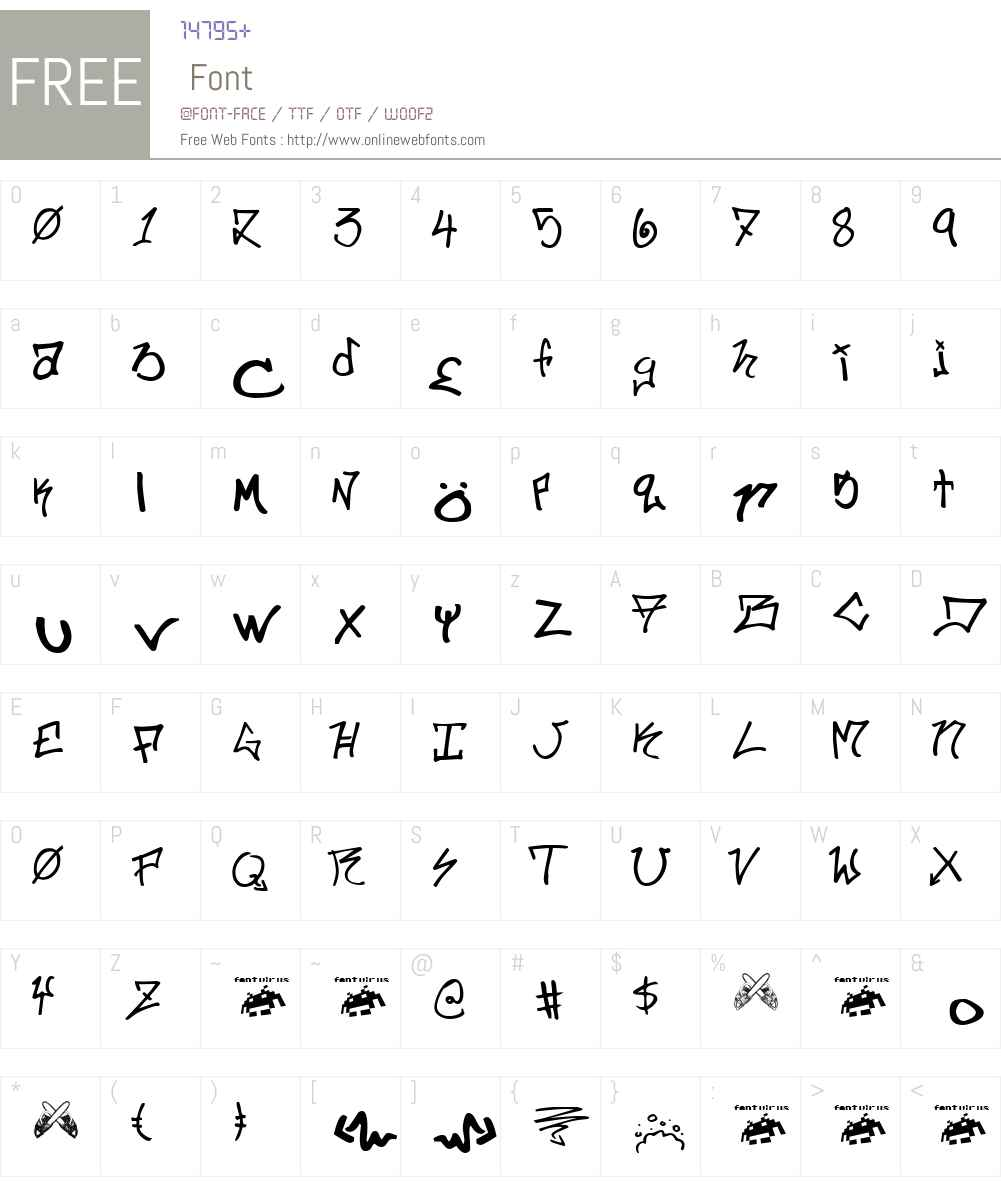 ill.skillz Font Screenshots