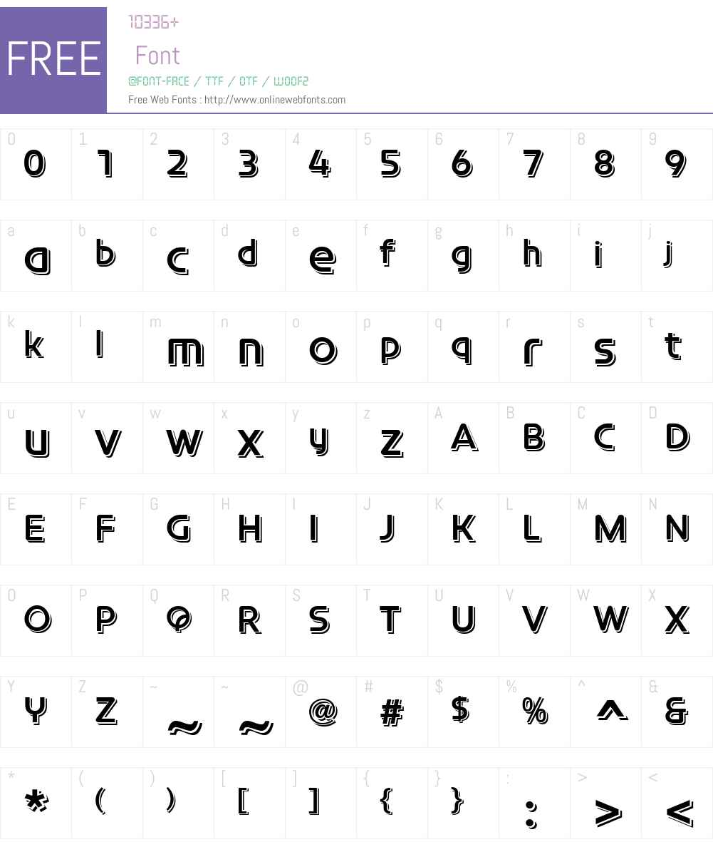 ConstellationTLPro-Echo Font Screenshots