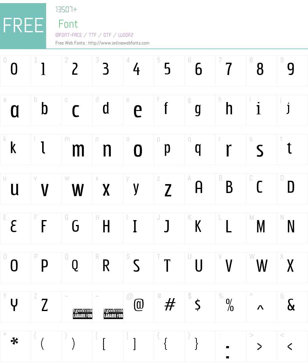 Subpear Font Screenshots