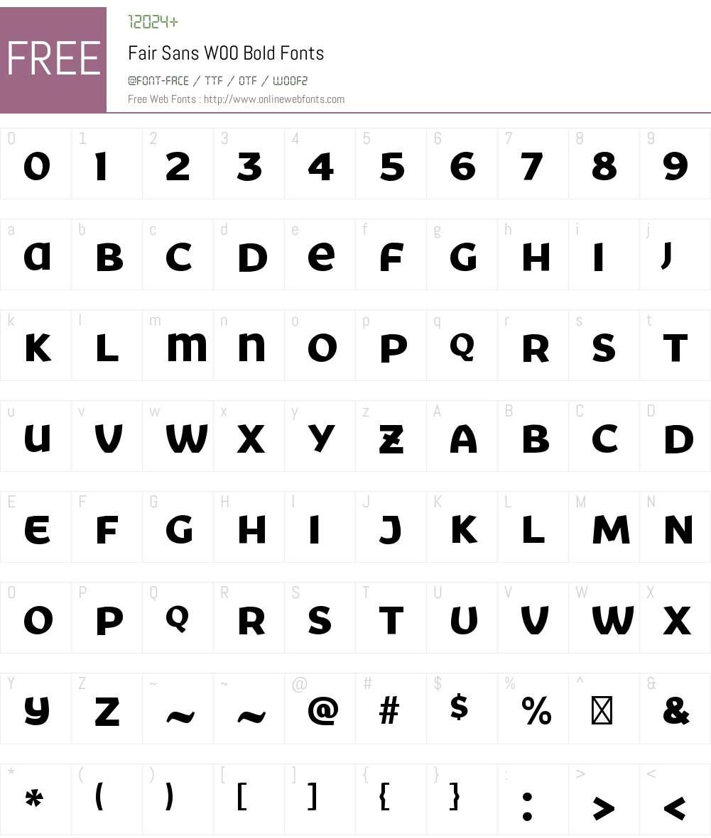 FairSansW00-Bold Font Screenshots
