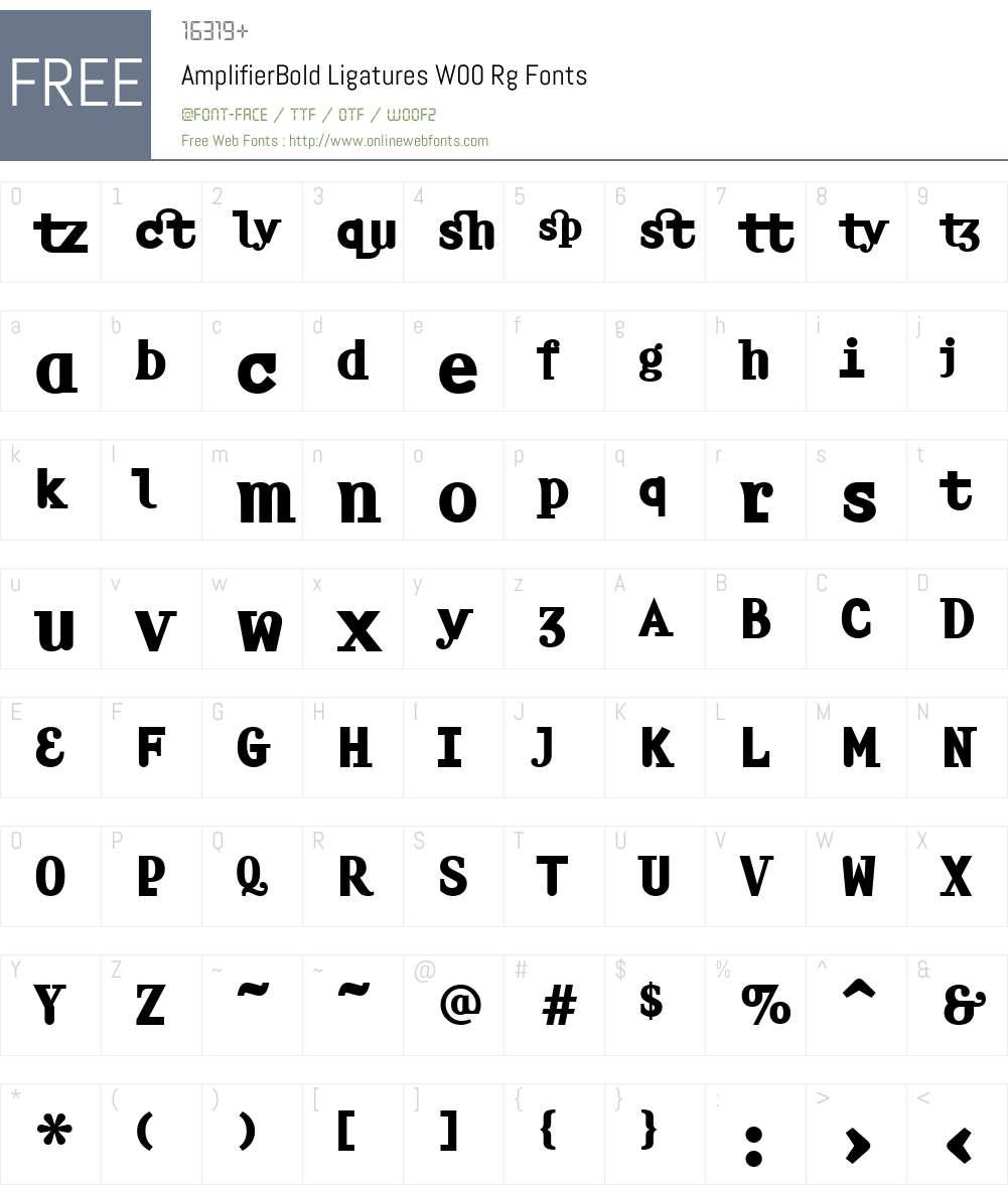 Amplifier Font Screenshots