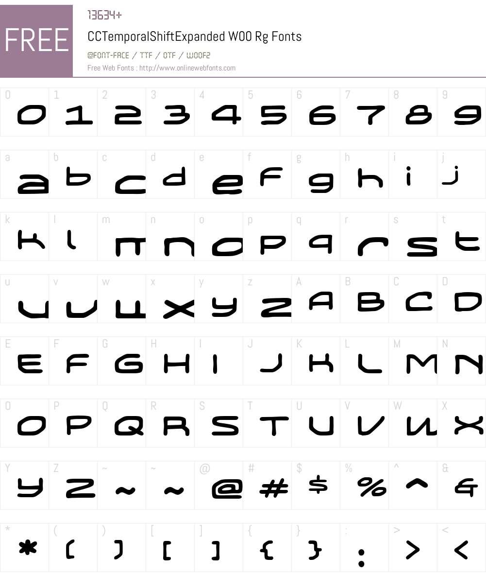 Temporal Shift Font Screenshots