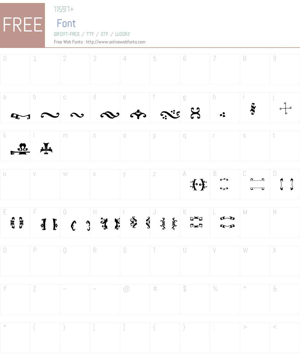 Biscuit Boodle Ornaments Two Font Screenshots