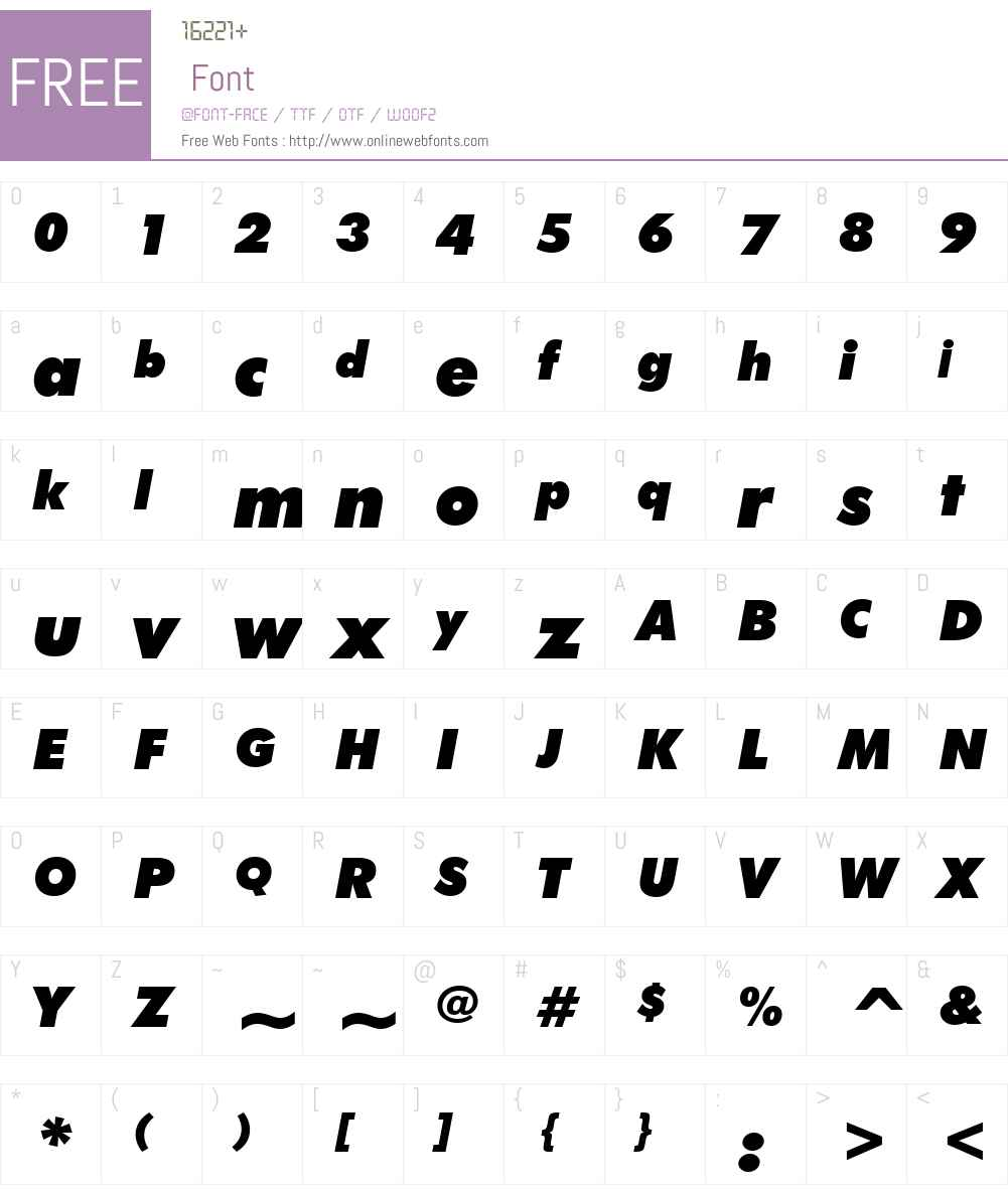 FuturaBTW02-ExtraBlackIt Font Screenshots