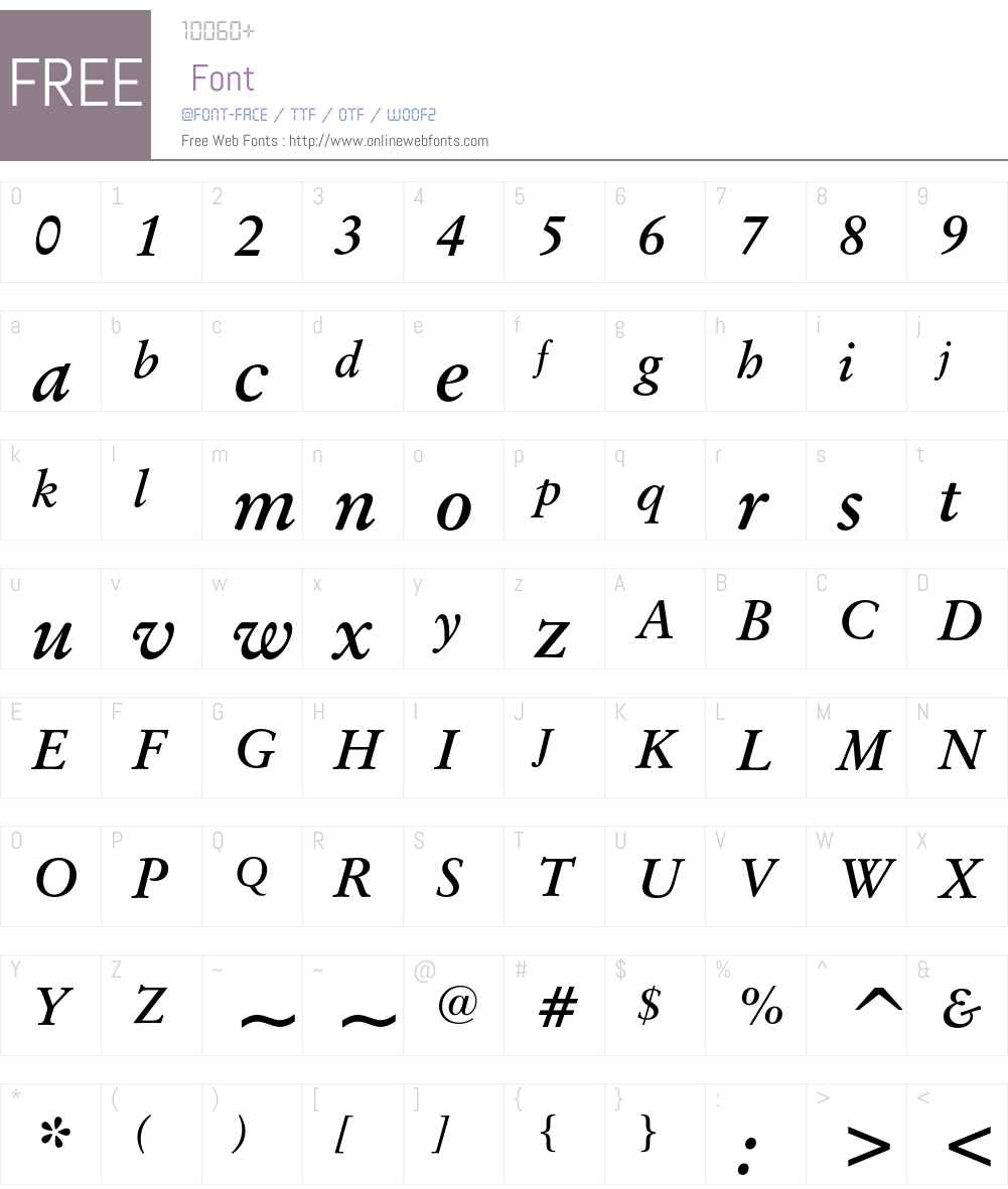 Original Garamond Font Screenshots
