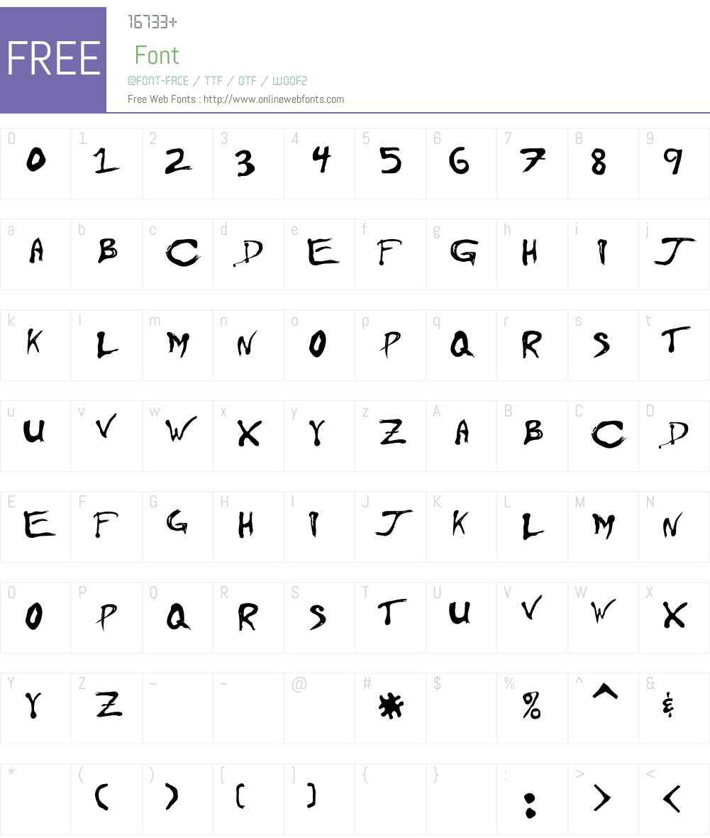 Floydian Font Screenshots