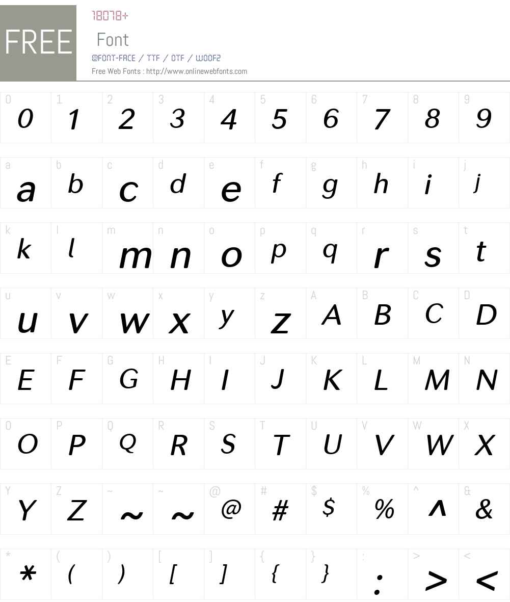 SecondaSoftW00-MediumItalic Font Screenshots