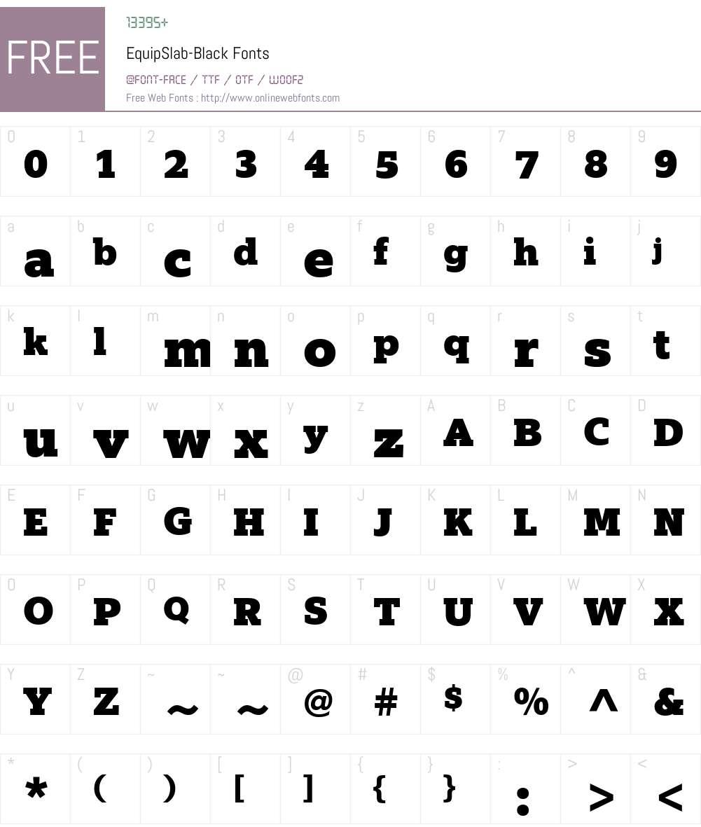 EquipSlab-Black Font Screenshots