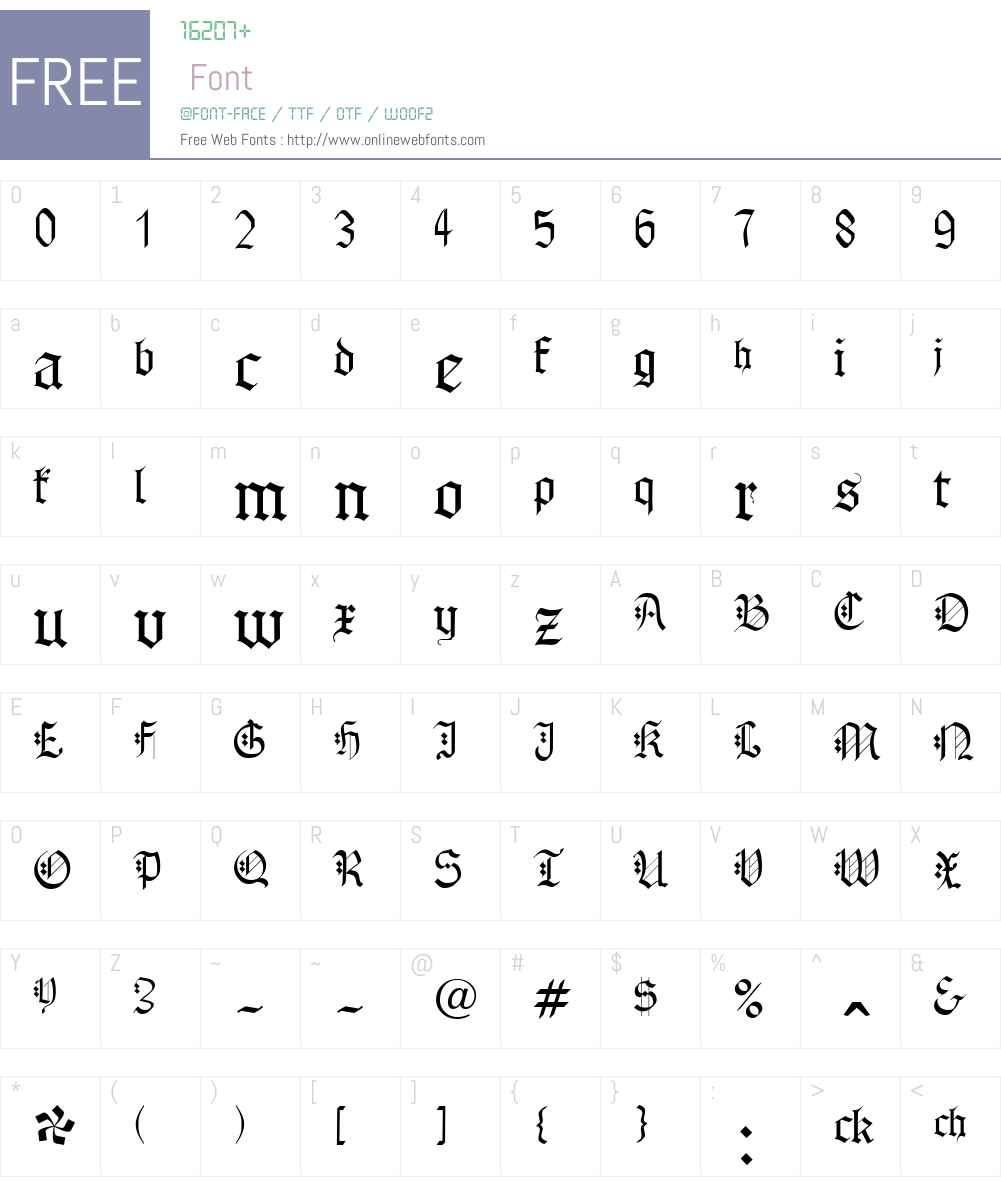 Gothenburg Fraktur Font Screenshots