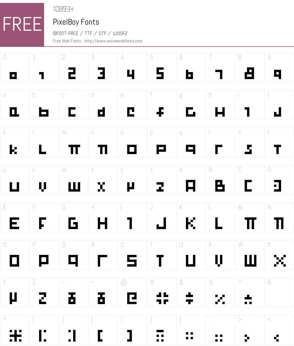 Pixelboy Font Screenshots