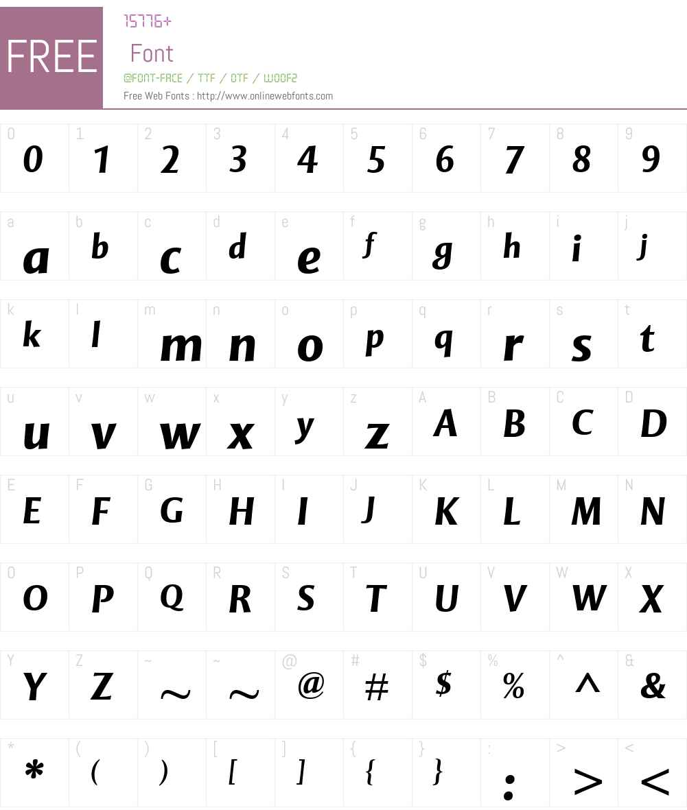 MentorSansW01-BoldItalic Font Screenshots
