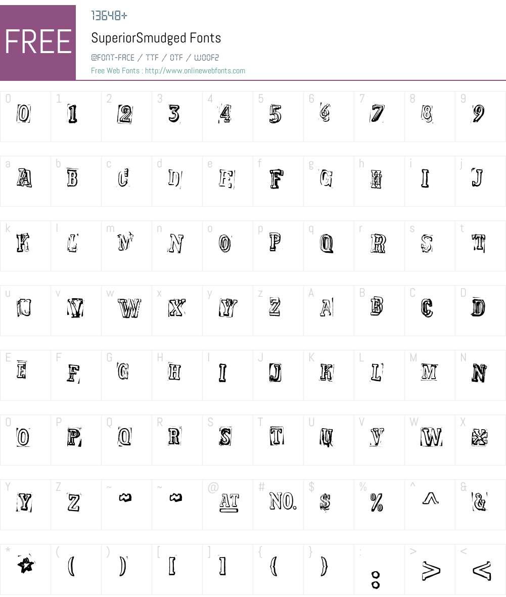 SuperiorSmudged Font Screenshots