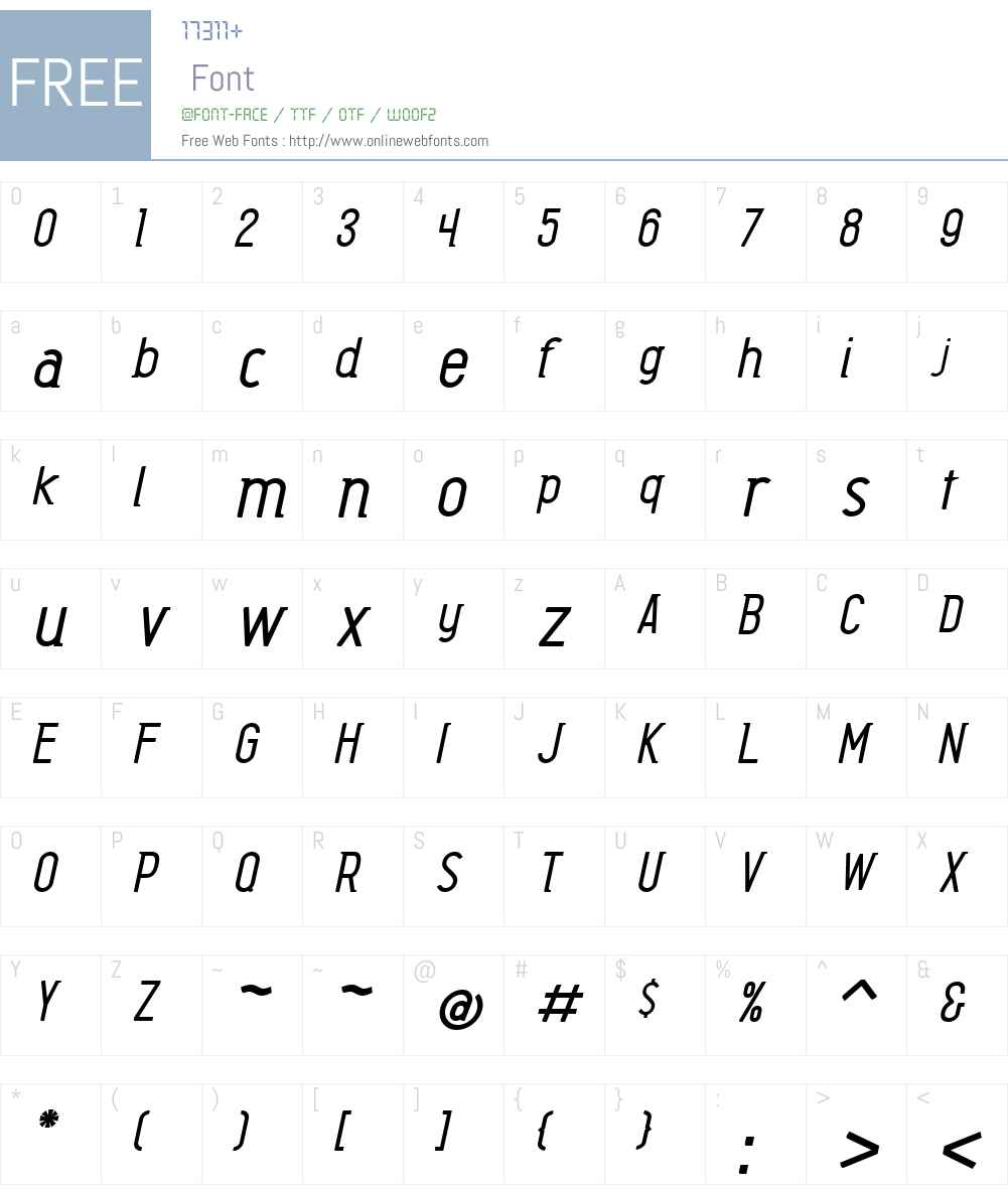 BarkpipeW00-MediumItalic Font Screenshots