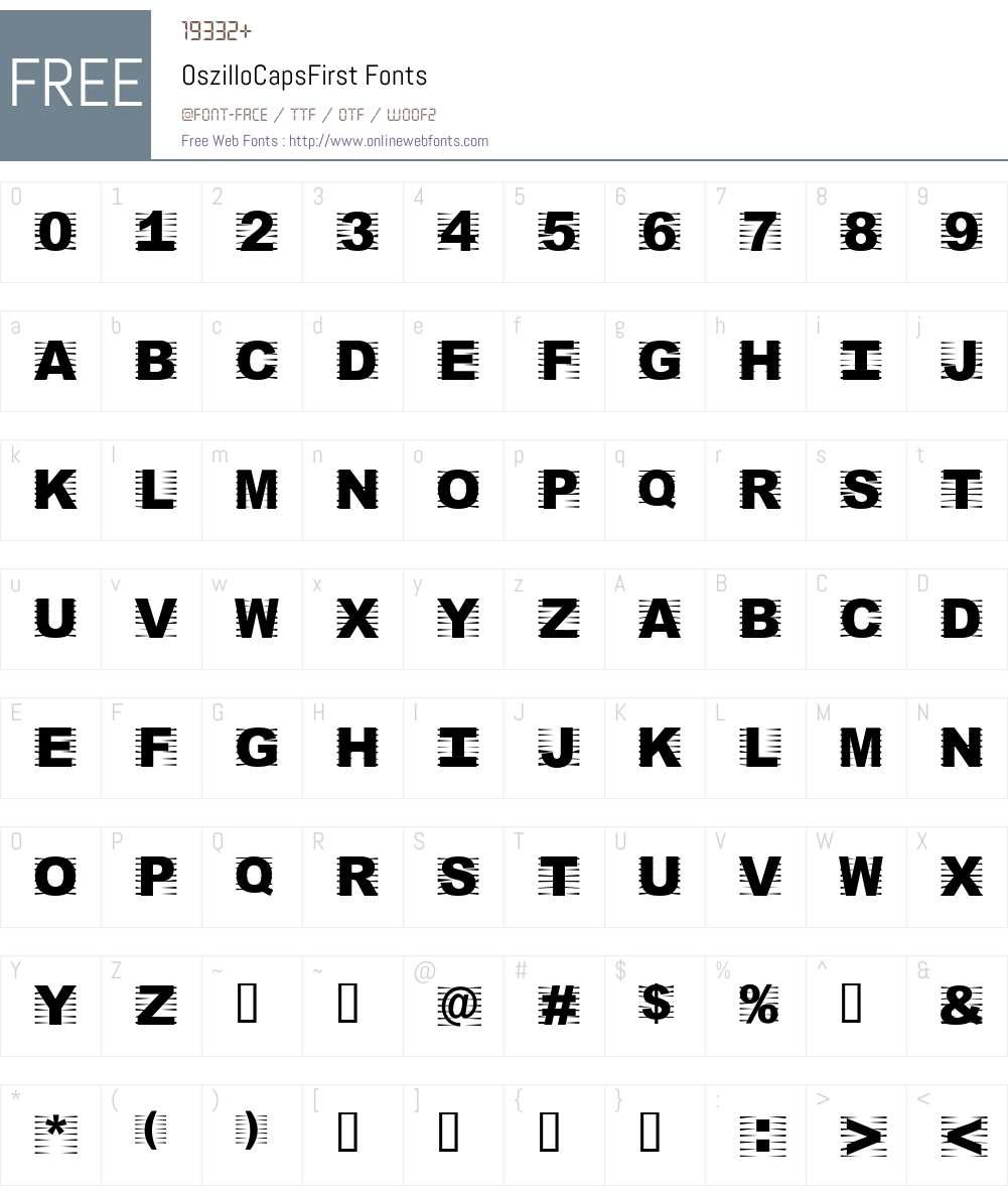 OszilloCapsFirst Font Screenshots