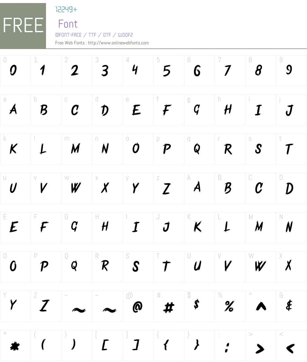 Frankentype Personal Use Only Font Screenshots